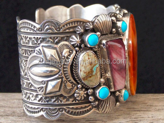 Fancy Turquoise Natural Stone cuff Bracelet bangle jewelry