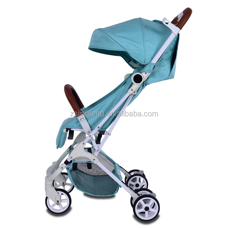 Cheap One-hand Modern Airplane Baby Stroller With Cationic Fabric