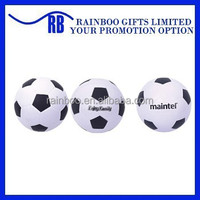 Hot selling Eco-friendly logo printed cheap football shape pu foam stress ball for promotion