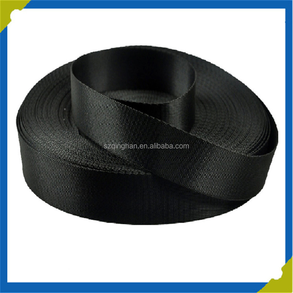 High Quality Customized Black Jacquard Woven Nylon Webbing for Garment Accessories