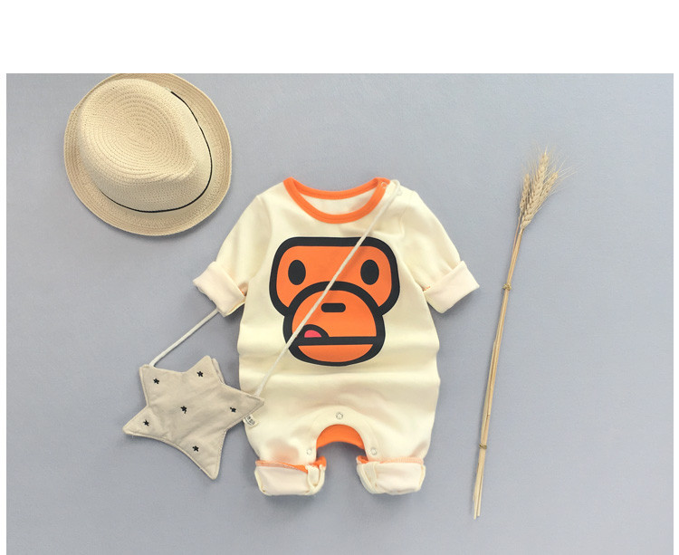 100% Cotton Newborn Sportsuit,Soft Children Romper for Newborn Baby