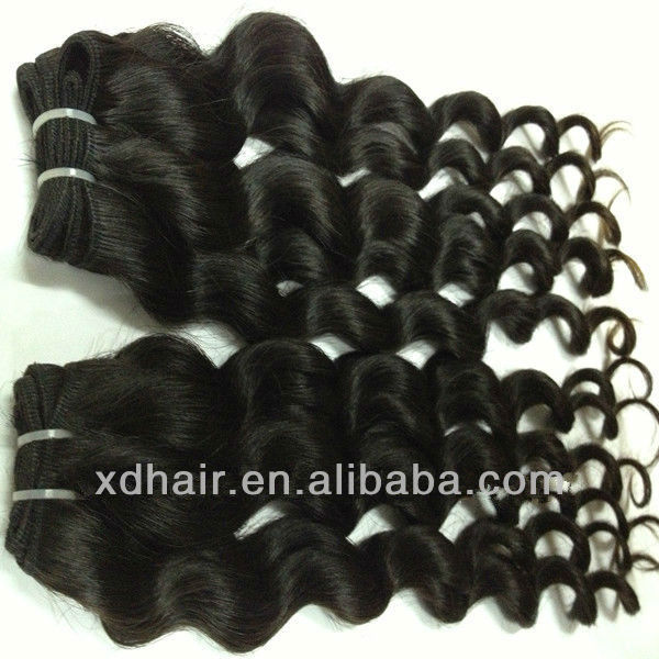 100% human hair unprocessed human hair wet and wavy indian remy hair weave