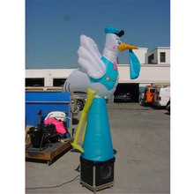 White wings Donald Duck standing pyramid platform sky air dancer inflatable cartoon