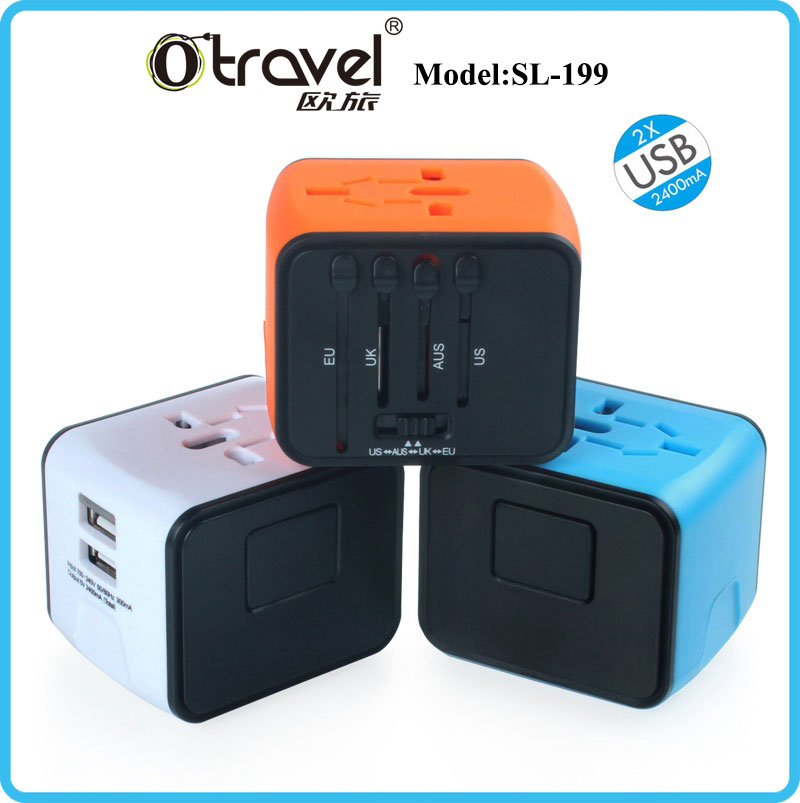 High Quality Portable All in One Global Electronic Plug Adapter Travel Wall Charger For British American European Australian