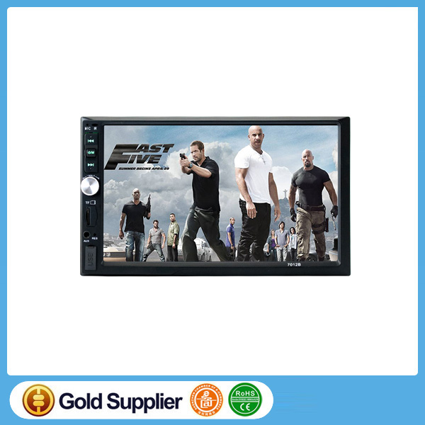 7 inch HD 1080P Touchscreen Double-DIN 1208 * 720 MP5/MP4 Player Car FM Radio Receiver Bluetooth + 420 TV Lines Camera