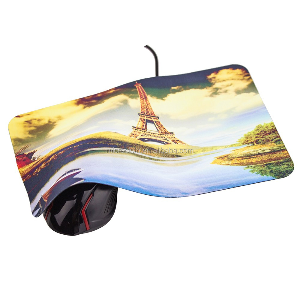 Printed Rubber mouse pad, decorative rubber mouse mat