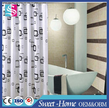 peva fabric waterproof shower curtain