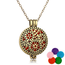 Aromatherapy jewelry pendants Vintage Steampunk Gear Aromatherapy Necklace Cotton Pad Aromatherapy diffuser Necklace locket
