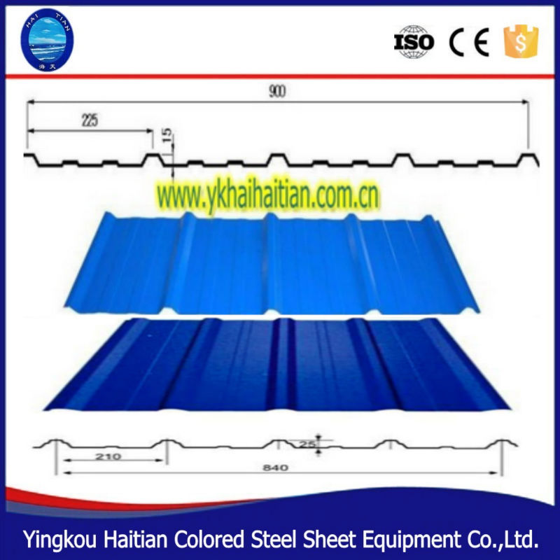Double Layer Corrugated Trapezoidal Steel Roofing Sheet Roll Forming Machine