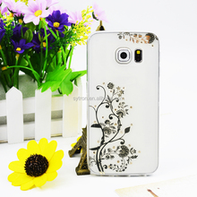 2016 Hot Trending Products Fashionable Film Diamond Tpu Cell Phone Case For S6 Edge