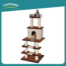 Toprank Familiar With ODM Factory Lovely New Design Door Cat Tree Houses Tall Cat Tree House