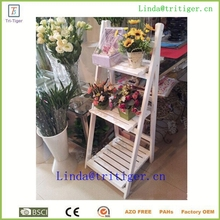 High quality Solid Pine Wood Outdoor Plant Shelves