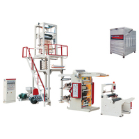 HDPE/LDEPE Plastic Film Blowing Machine with printing machine