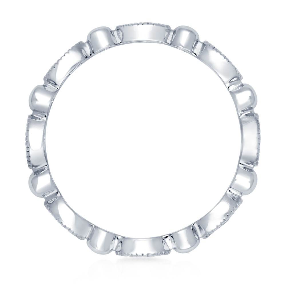 sterling silver 925 eternity cz Art Deco band for women R500414
