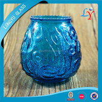 blue murano glass candle holder beehive antique wedding decorative glass candleholder mercury candle holder glass with color