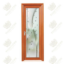 high quality aluminum frosted glass bathroom door in foshan