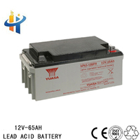 Yuasa 12V 65AH lead acid battery in auto, accumulator battery, uninterruptible power battery