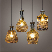 ali baba shopping Bottle Design Pendant light, 4 Light, Characteristic Artistic Glass Blowing pendant lamp By Hand