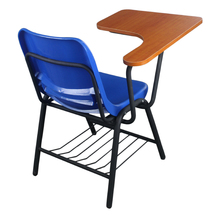plastic school furniture chairs with tables attached