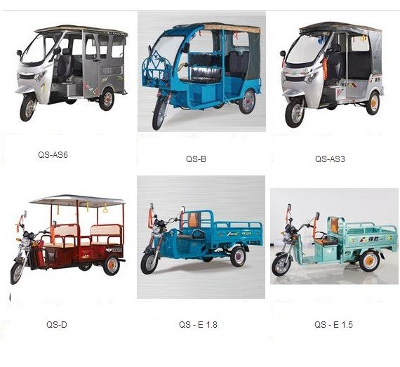 2016 China top 5 battery operated tricycle supplier price list ke ke in india