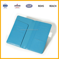 Novel Design Blue PU leather Waterproof Notebook Cover Diary Cover with Pen