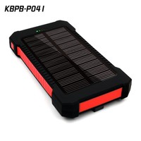 Outdoor waterproof solar mobile power bank charger high capacity protable sun solar power bank10000Mah