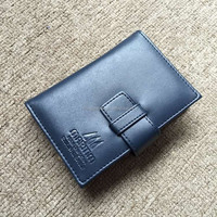 Multiple men's business namecard leather holder with notepad