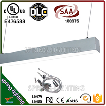 UL DLC CUL SAA listed 30w 40w 50w 80w suspended or surface mounted LED linear light replacement to T5/T8 fixture