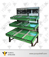 Stainless 3 Tier vegetable and fruit display shelves