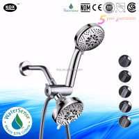 led music shower head negative ion shower head water meter for shower head