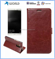 PU Leather Wallet Flip Case for Huawei Mate 8 with Built-in Card Slots