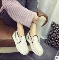 High quality ladies shoes fashion round toe shoes comfortable casual platform shoes