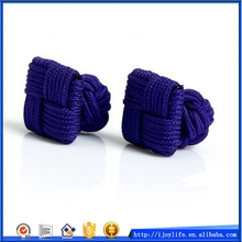 Top quality professional other shape barrel silk knot cufflink