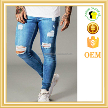 Fashion skinny denim jeans new style jeans pent men ripped jeans
