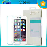 Hight quality and durable with color design tempered glass screen protector for iphone 6 plus