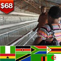 Kenya warehouse office layer cages for egg chicken farm