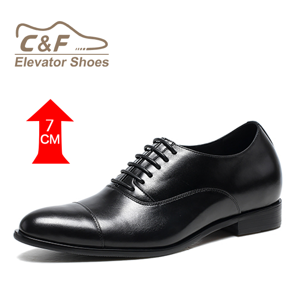 Quality leather italian handmade height increasing formal dress shoes
