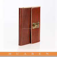 Huaben 2015 custom notebook genuine leather cover
