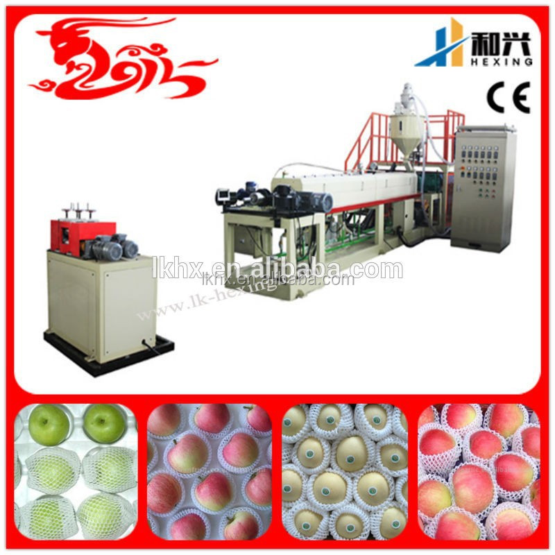 HX-EPEW75 Top Performance PE Foam Fruit Net Extruder Machine Plastic