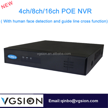 POE 16ch NVR ( With human face detection and Premiter intrusion guide line cross function)