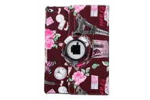 Hot Fashionable Eiffel Tower Pattern Magnetic Rotating Folio Stand Tablet Leathe Flipr Case Cover for Samsung Galaxy Tab 3 7.0