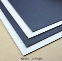 Black laminated board paper single side