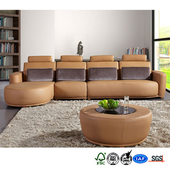 Hot-selling removable back pillow compact grain sectional sofa