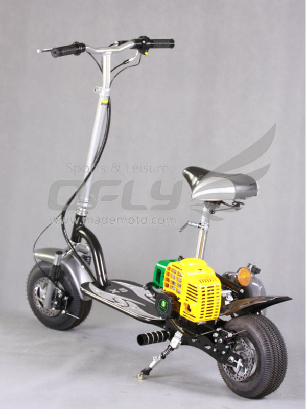 cheap 49cc CE Approved fold 2 wheel gas powered scooter