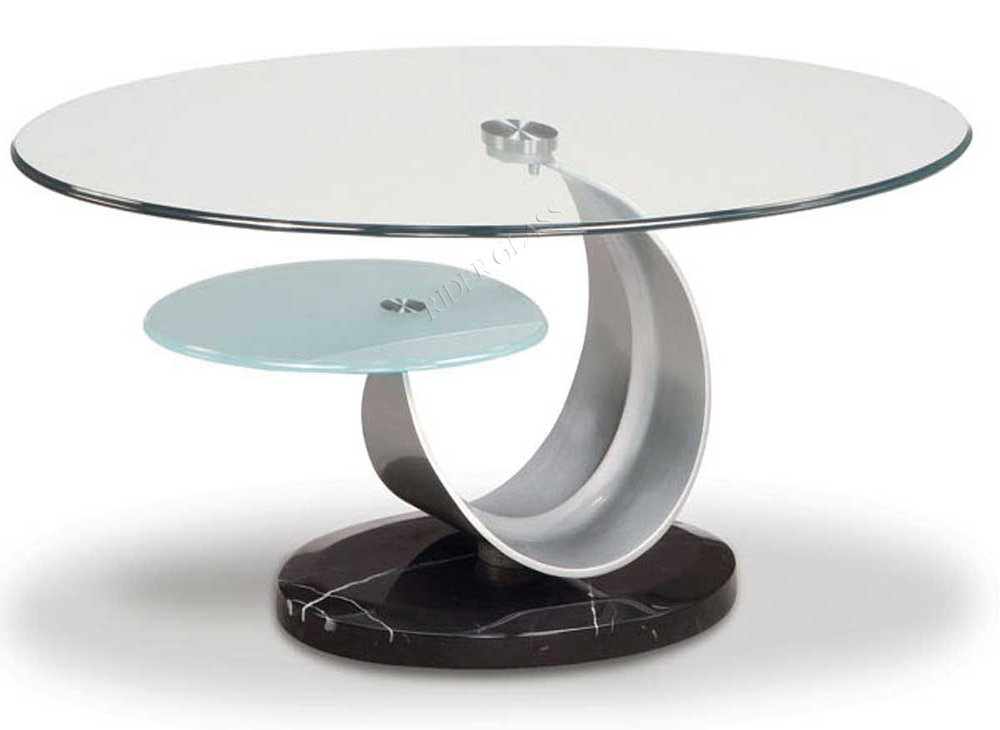 3-19mm Round Tempered Glass Top Table
