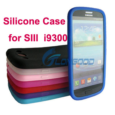 Hot wholesale Soft Silicone Mobile phone cover case for Samsung S3 phone case