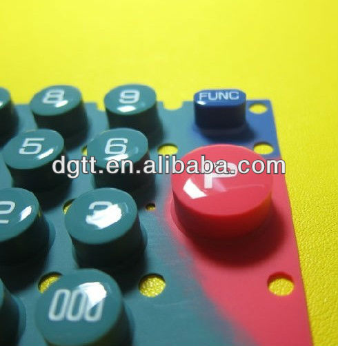Silicone Rubber Keypad + Glossy Epoxy Coating