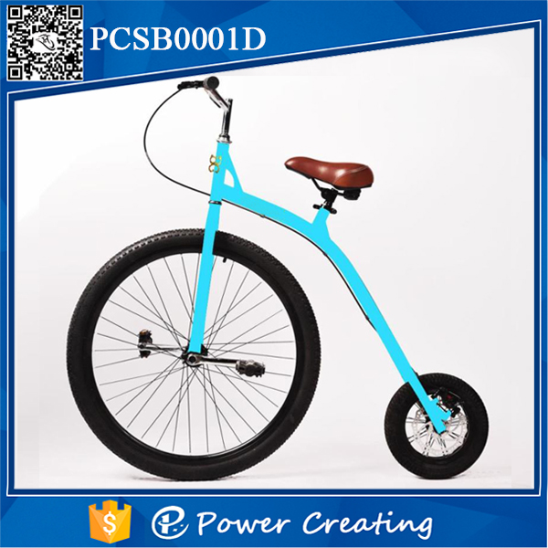 Nice Looking Big and Small Wheel Bicycle Blue Color for Girls