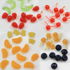 New Simulation Food Artificial Cherries Orange Apple Beans Resin Miniature Art Flatback Cabochon DIY Decorative Craft