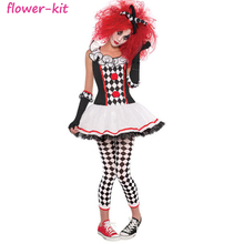 2017 Sexy Costume Women Halloween Fancy Jester Sexy Clown Costume